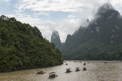 Sur Li River, Guilin Photo libre de droits