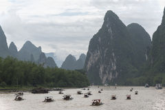 Sur Li River, Guilin, Chine Photos stock