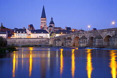 Sur Loire do charite do La fotografia de stock royalty free