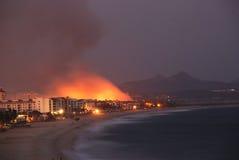 Sur Mexique de Los Cabos Californie d'incendie Image libre de droits
