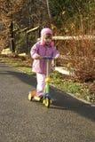 Sur mon scooter Image libre de droits