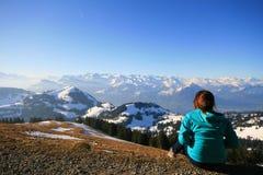 Sur Mt.Rigi Photos libres de droits