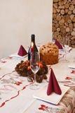 Sur Noël de table Photo stock