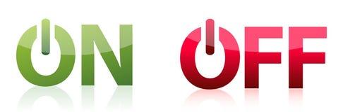 Sur outre de la conception d'illustration de boutons Photographie stock libre de droits