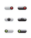 Sur outre des boutons de commutateur Images stock
