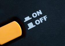 Sur outre du commutateur de bouton Photographie stock libre de droits