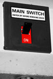 Sur outre du commutateur sur un circuit électrique domestique Photographie stock libre de droits