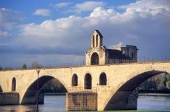 sur pont la avignon d Стоковое Изображение