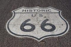Sur Route 66 historique dans Kingman, l'Arizona Photographie stock