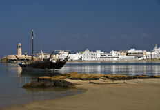Sur's harbor, Oman stock images