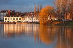 Sur Saône de Chalon Images libres de droits
