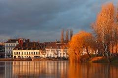 Sur Saône de Chalon Photo libre de droits