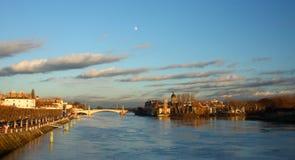 Sur Saône de Chalon Image libre de droits