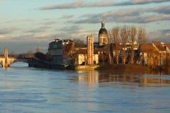 Sur Saône de Chalon Photo stock