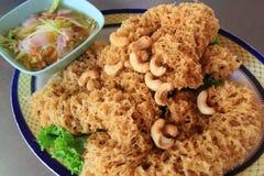 Sur sallad för thailändsk frasig fisk Royaltyfri Bild
