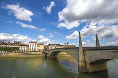 Sur Saone, France de Chalon Images stock