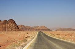 Sur un chemin à Wadi Rum Image libre de droits