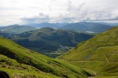 Sur un chemin jusqu'au dessus de Ben Nevis Photo libre de droits