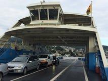 Sur un ferry sur le ZurichSee photographie stock libre de droits
