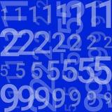Sur un fond bleu il y a des lignes avec des nombres illustration libre de droits