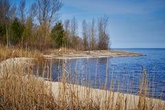sur un lac Image stock