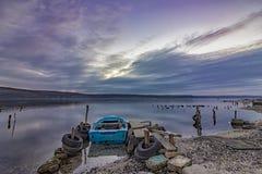 sur un lac Photo stock
