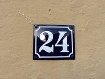 24 sur un signe Images libres de droits