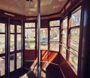 Sur un tram Photos libres de droits
