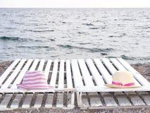 Sur une plage de mer Photographie stock libre de droits