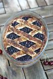 Sura Cherry Pie Royaltyfria Bilder