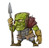 Sura elakt trollsoldater royaltyfri illustrationer