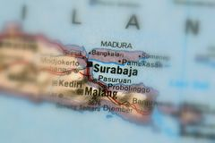 Surabaja, a city in Indonesia. Surabaja, a city in the Republic of Indonesia selective focus stock photography