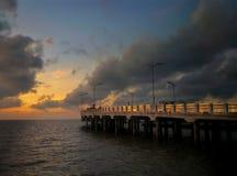 Surabaya Bridge. Water, beach, landscape, sunset, sunrise royalty free stock images