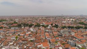 Surabaya huvudstad East Java, indonesia arkivfilmer