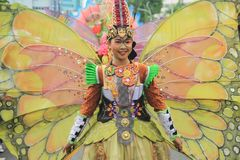 Surabaya indonesia. May 28, 2016. The flower parade commemorates the anniversary of the city of Surabaya. royalty free stock images