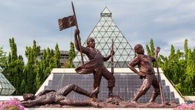 Monument Unknown Soldier  Surabaya. Surabaya, Indonesia - November, 05, 2017: Monument of the Unknown Soldier who has struggled to defend the city of Surabaya to Stock Photography