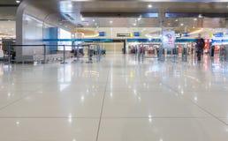 SURABAYA INDONESIEN - mars 25, 2016: Surabaya Juanda internationell flygplats - intierior Surabaya East Java Royaltyfria Bilder