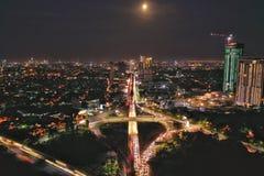 Surabaya Underpass. First Underpass Road in Surabaya Underpass Satelit Mayjend Sungkono - HR Muhammad, Surabaya - East Java royalty free stock photo