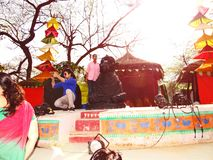 Surajkund Crafts Mela. Surajkund Crafts Fair is one of the most famous fairs, organized every year in Surajkund, by Haryana Tourism Department to promote royalty free stock images