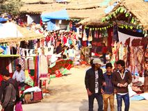 Surajkund Crafts Mela. Surajkund Crafts Fair is one of the most famous fairs, organized every year in Surajkund, by Haryana Tourism Department to promote stock photo