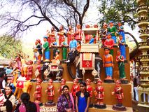 Surajkund Crafts Mela. Surajkund Crafts Fair is one of the most famous fairs, organized every year in Surajkund, by Haryana Tourism Department to promote royalty free stock photos