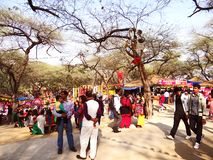 Surajkund Crafts Mela. Surajkund Crafts Fair is one of the most famous fairs, organized every year in Surajkund, by Haryana Tourism Department to promote stock image