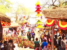 Surajkund Crafts Mela. Surajkund Crafts Fair is one of the most famous fairs, organized every year in Surajkund, by Haryana Tourism Department to promote stock images