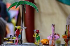 Beautiful Wire Figurines from kenya stock photography