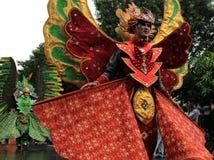 Surakarta karneval Arkivbilder