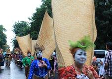 Surakarta karneval Arkivfoton