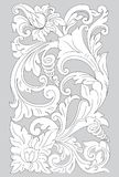Motif Surakarta line art. Surakarta ornamental pattern has a motif shape carved leaf niches that arched rhythmically and spread freely as a symbol of a friendly Royalty Free Stock Images
