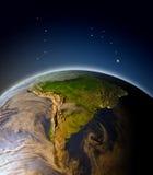 Suramérica de la órbita ilustración del vector