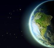 Suramérica de la órbita stock de ilustración