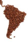 Suramérica hizo con café Fotos de archivo libres de regalías